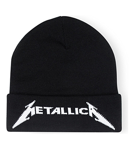 METALLICA Logo-embroidered knitted beanie (Black