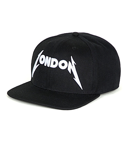 METALLICA London-embroidered canvas baseball cap (Black
