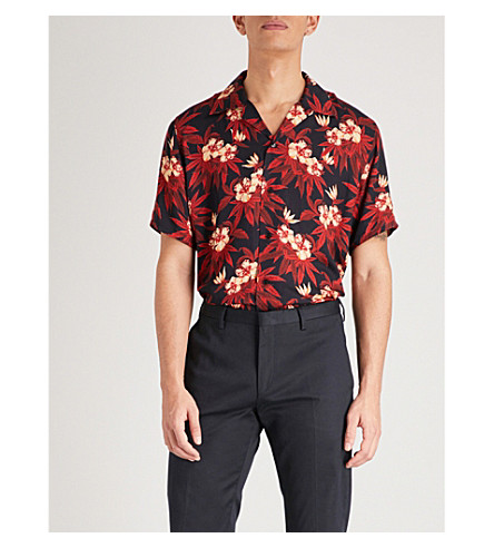 SSS WORLD CORP Magnum relaxed-fit woven shirt (Black