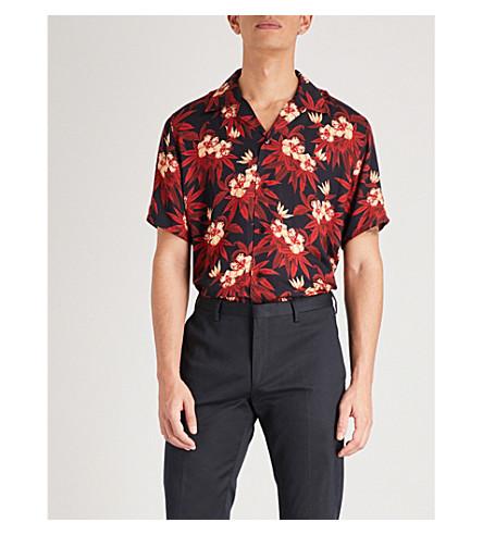 SSS WORLD CORP Magnum 休闲版型织衬衫 (黑色