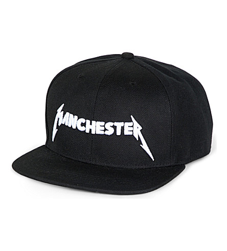 METALLICA Manchester-embroidered canvas baseball cap (Black