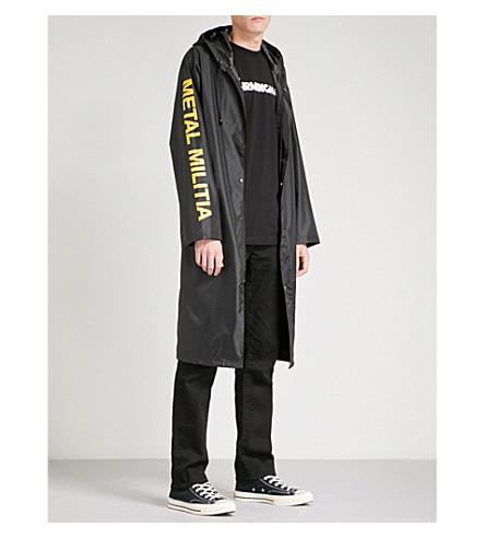 METALLICA Metal Militia shell raincoat (Black
