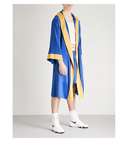 SSS WORLD CORP Lamyland power satin robe (Navy