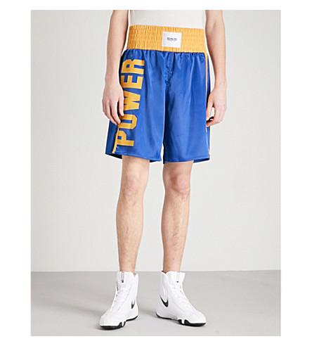 SSS WORLD CORP Lamyland satin boxing shorts (Navy