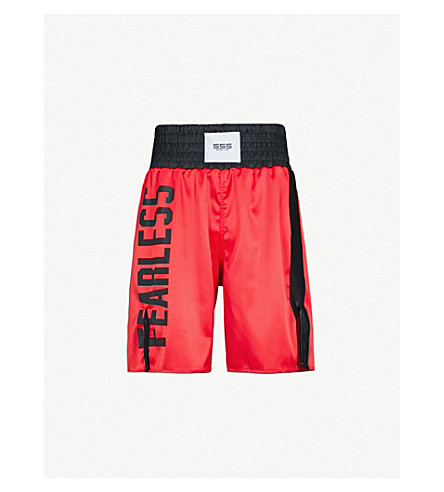 SSS WORLD CORP Lamyland satin boxing shorts (Red