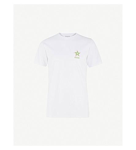 SSS WORLD CORP Skater Pentagram cotton-jersey T-shirt (White
