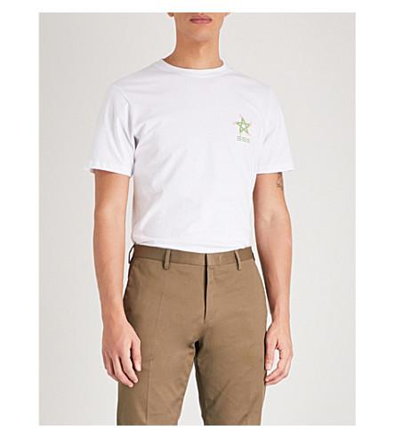 世界公司溜冰者五角星棉球衣 t恤衫 (白色