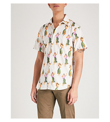 SSS WORLD CORP Vice relaxed-fit woven shirt (Ivory