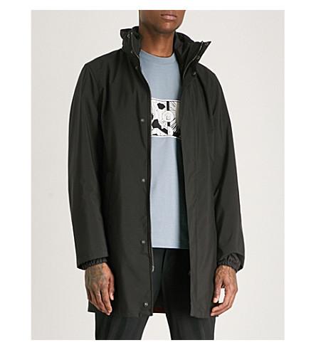PRADA Stand-collar shell jacket (Black