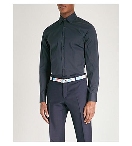 PRADA Slim-fit stretch-cotton shirt (Bleu