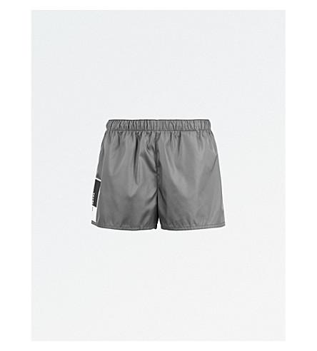 PRADA Side logo nylon shorts (Grey