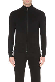BURBERRY LONDON zip-up cashmere-knit cardigan