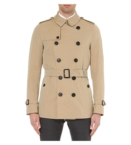 BURBERRY The Sandringham short-length cotton-twill trench coat (Brown