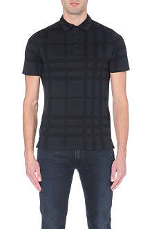 BURBERRY LONDON enlarged-check polo shirt