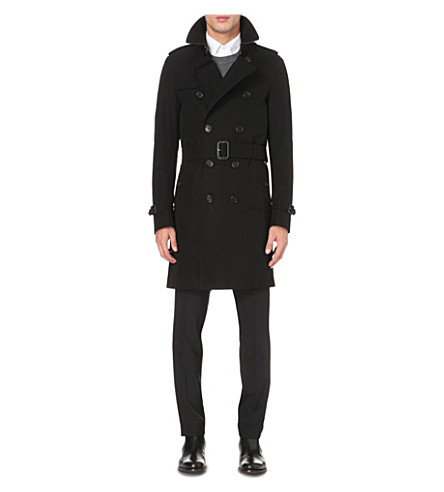 BURBERRY The Sandringham cotton-twill trench coat (Black