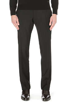 BURBERRY LONDON slim-fit wool-mohair tailored trousers