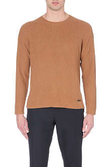 BURBERRY LONDON ribbed-knit cashmere jumper