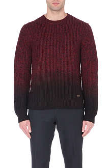 BURBERRY LONDON dip-dye merino wool jumper