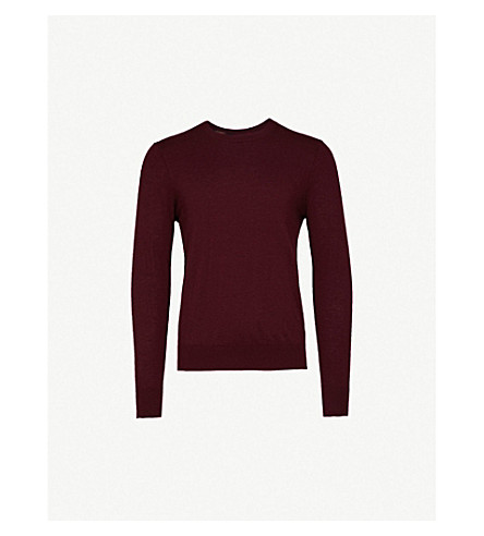 BURBERRY Kenneth crewneck cashmere jumper (Deep+claret
