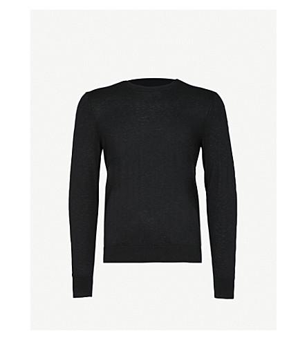 BURBERRY Kenneth crewneck cashmere jumper (Black