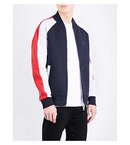 BURBERRY Panelled bomber jacket (Navy