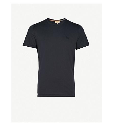 BURBERRY Joeforth 平纹针织棉 T 恤 (海军