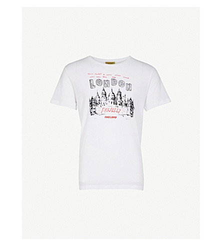 BURBERRY Hailford cotton-jersey T-shirt (White