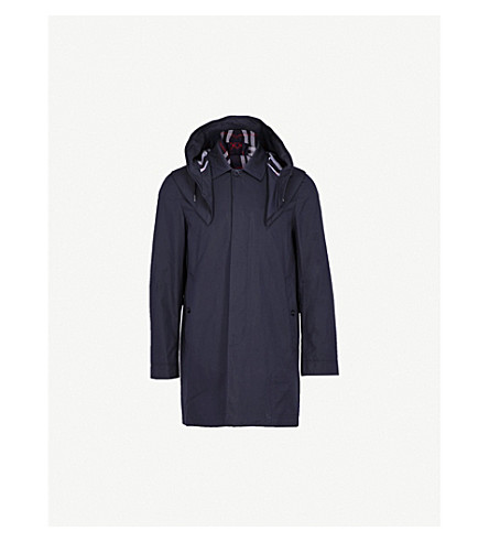 BURBERRY Hardwick cotton-blend parka jacket (Navy