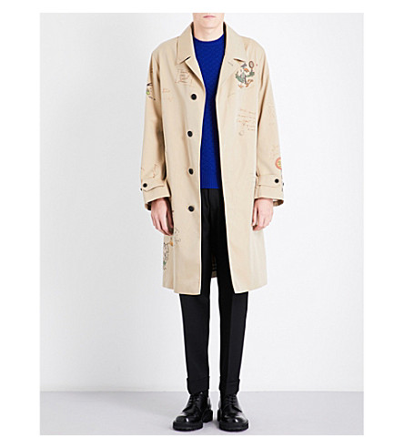 BURBERRY Sketch cotton-gabardine trench coat (Honey