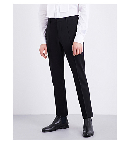 BURBERRY Riding stretch-jersey trousers (Black