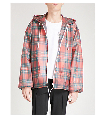BURBERRY Tartan pvc jacket (Bright+red