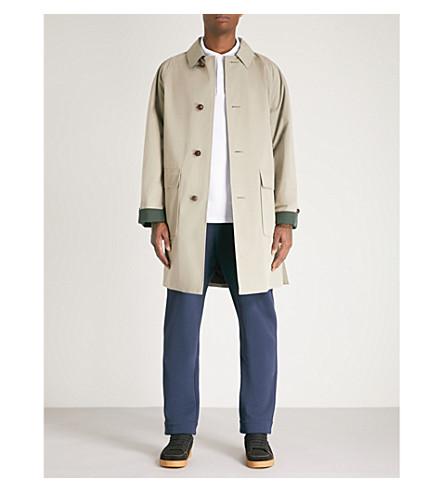 BURBERRY Single-breasted gabardine trench coat (Khaki