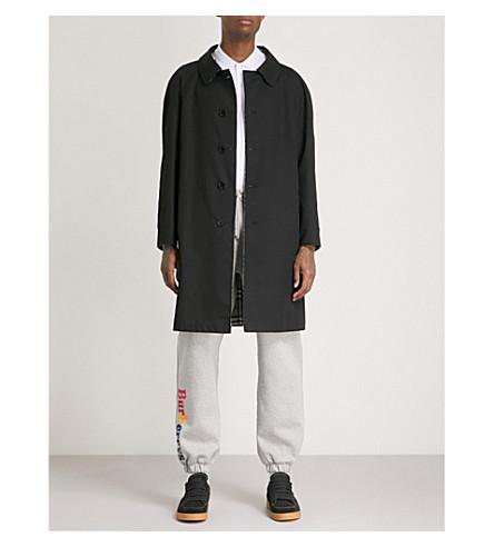 BURBERRY Reversible gabardine trench coat (Black