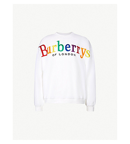 BURBERRY Burberrys cotton-jersey sweatshirt (White