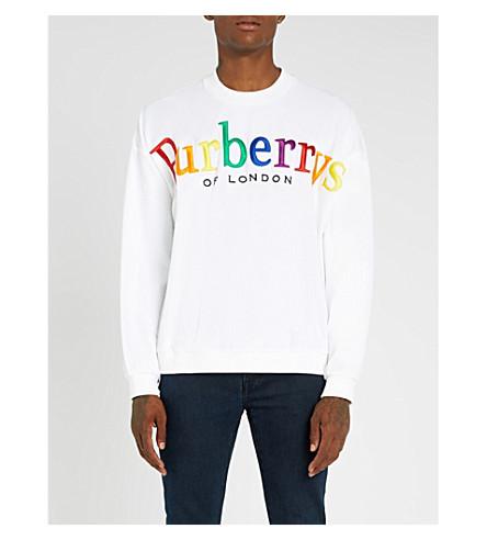 BURBERRY Burberrys cotton-jersey sweatshirt (White