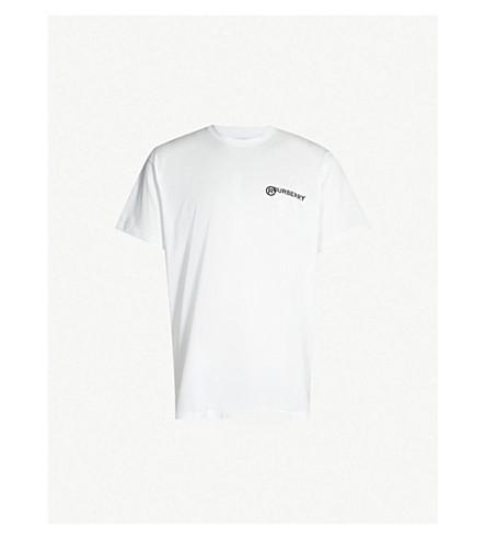 BURBERRY Logo-print cotton-jersey T-shirt (Optic white