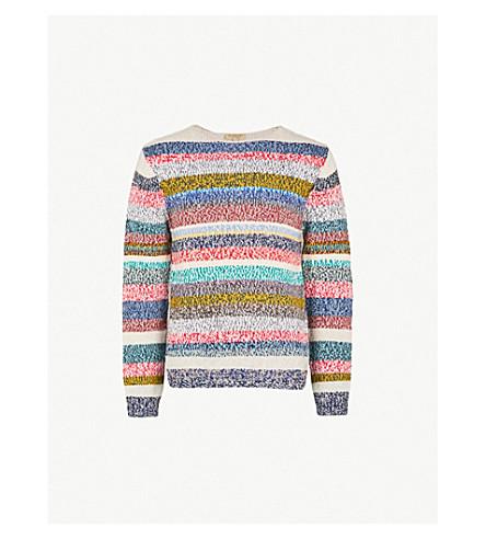 667a0943aafcbe BURBERRY - Striped wool jumper