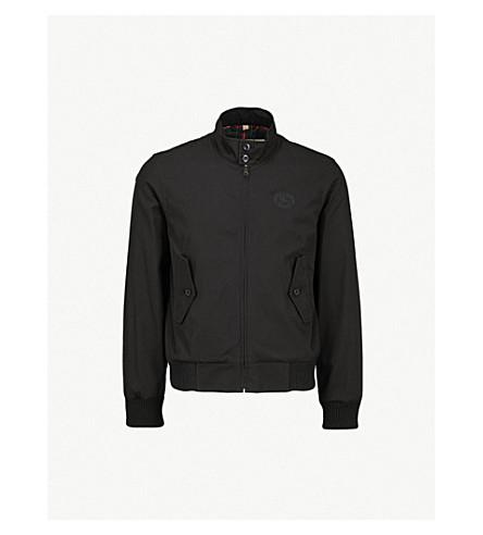 BURBERRY Dalham 棉质斜纹布夹克 (黑色