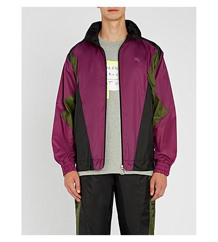 BURBERRY Hepwood colourblocked shell jacket (Regency+purple