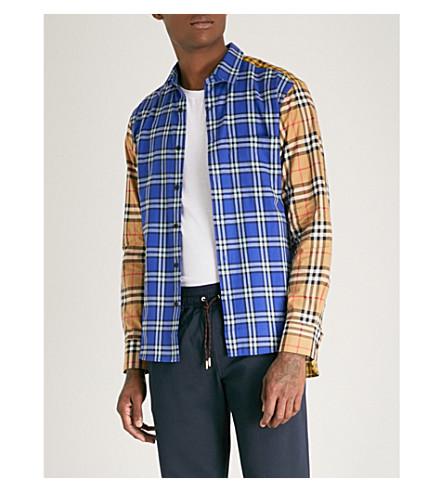 popelín y camisa Lapis BURBERRY Goodhall regular de brillante corte algodón de wFnS6