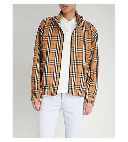 BURBERRY Peckham checked shell jacket (Antique+yellow
