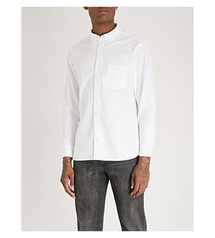 BURBERRY哈里定期适合棉牛津衬衫 (白色