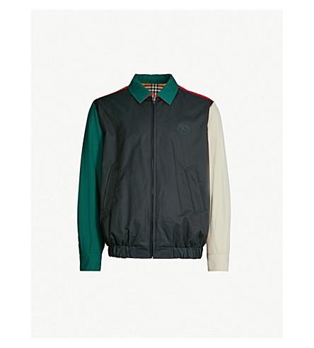 BURBERRY Cadshaw reversible cotton-twill Harrington jacket (Midnight