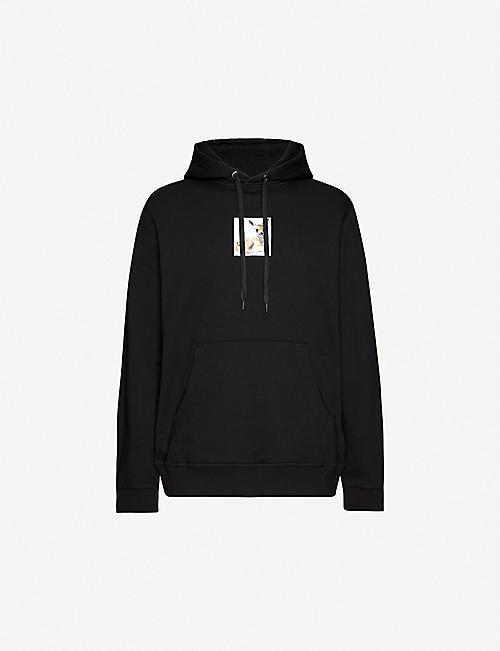 BURBERRY Deer-print cotton-jersey hoody