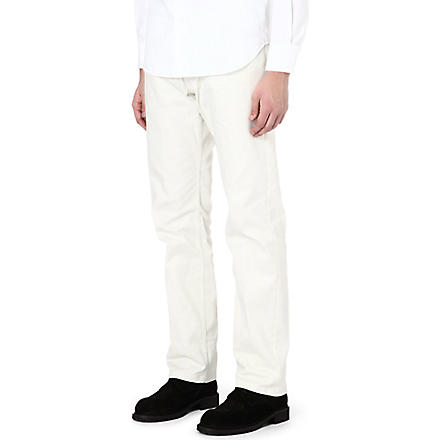 ANN DEMEULEMEESTER Tapered trousers (Ecru