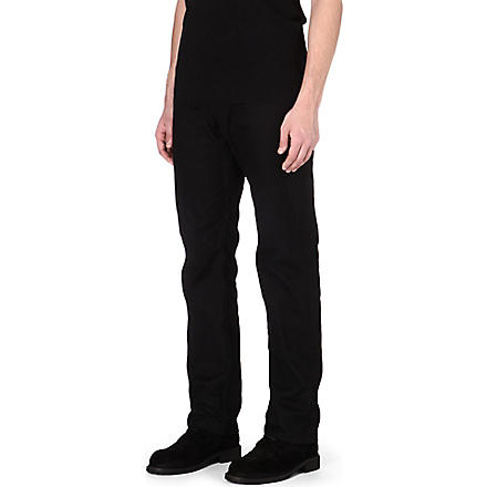 ANN DEMEULEMEESTER Regular-fit straight jeans (Black
