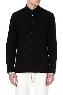 ANN DEMEULEMEESTER Contrast-trim striped shirt
