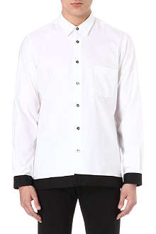 ANN DEMEULEMEESTER Taped ribbon-trim shirt
