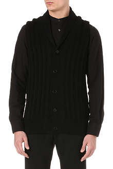 ANN DEMEULEMEESTER Wide-rib sleeveless knitted cardigan