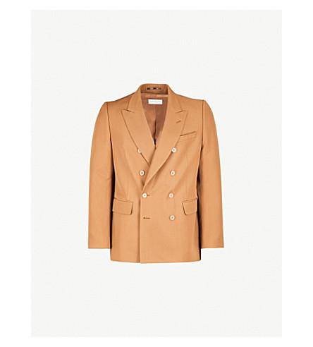 DRIES VAN NOTEN Beagan tailored-fit wool jacket (Camel